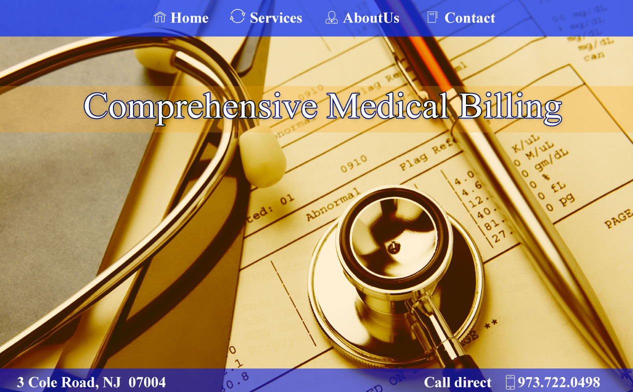 An image of Medical Billing Photoshop website design