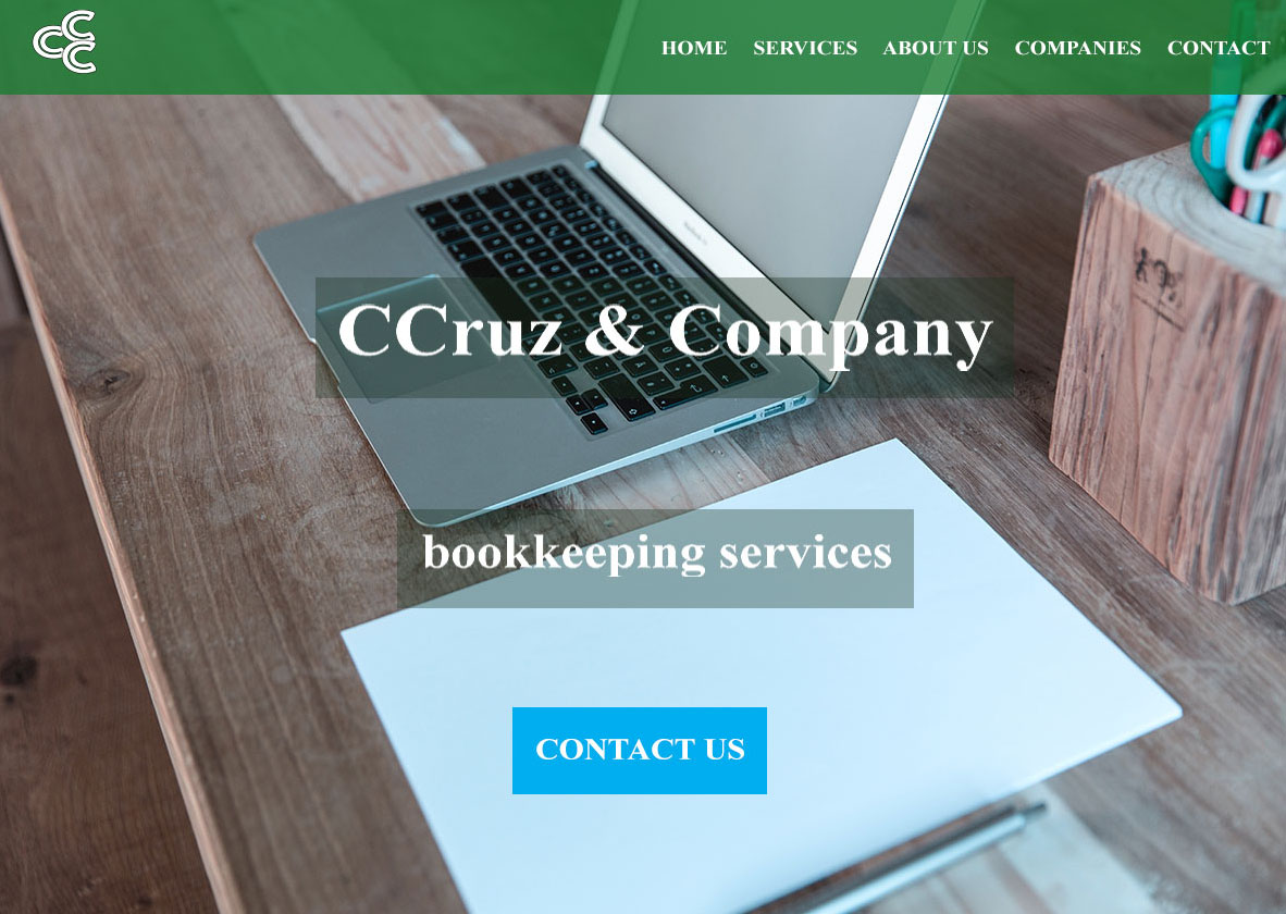 An image of CCrux Company Photoshop website design