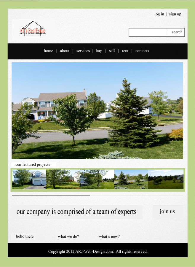 An image of a concept new website design