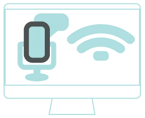 An Image of a Screen Reader & Voice Command Device icon