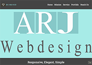 An image of New ARJ-Web-Design WordPress Conversion website