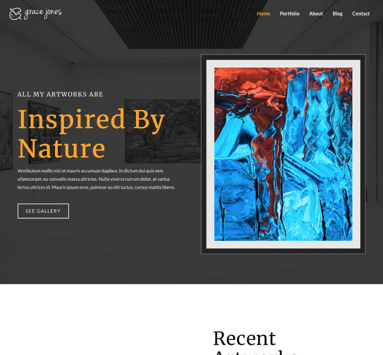 An Image of a Inspired by Nature new website design