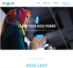 An image of BossLady Development active website