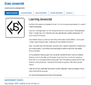 An image of Learn Javascript website design