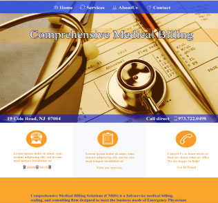 An image of a Template for Comprenensive Medical Billing website design
