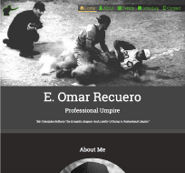 An image of a Template for Professional Umpire website design