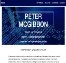 An image of Peter Gibbons resume active website