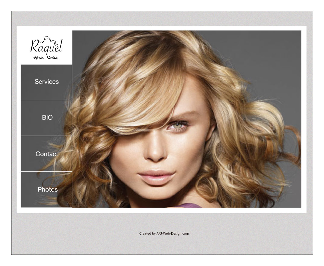 An image of a Mockup for Raquel Salon Service image 4