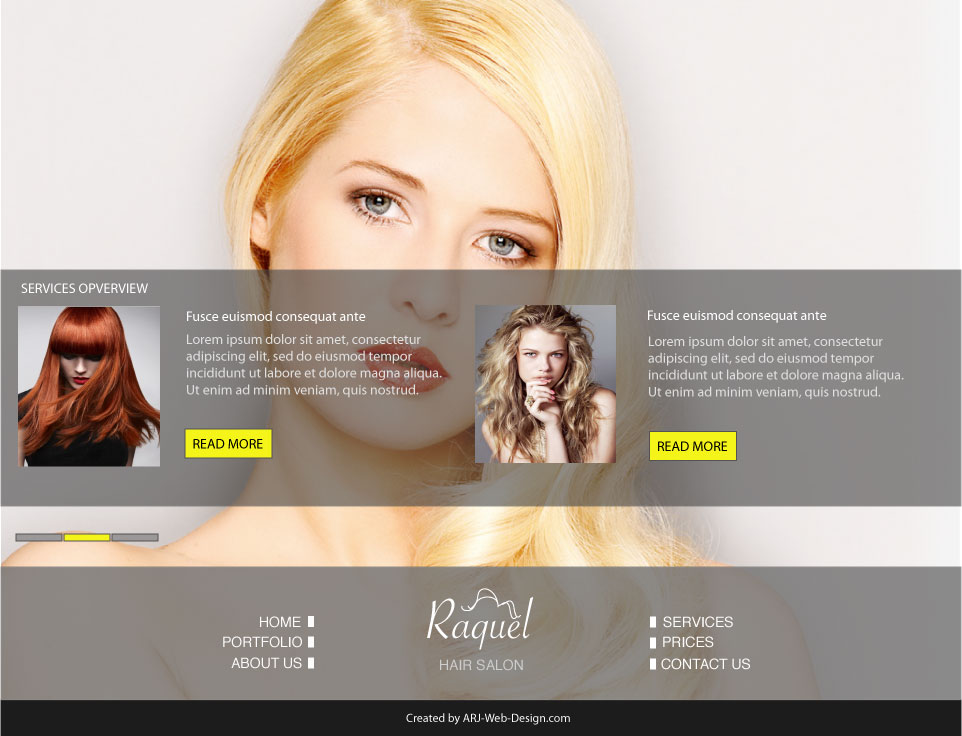 An image of a Mockup for Raquel Salon Service image 2