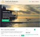 An image of Sandcastle Developers active blog website