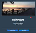 An image of Sandcastle Developers Delete Record page
