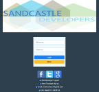 An image of Sandcastle Developers Login Form page