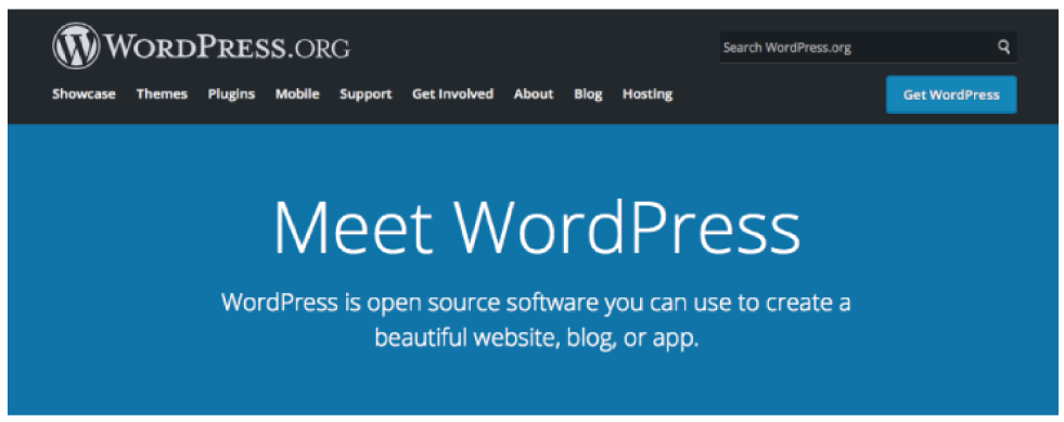 An image of WordPress Org Website Banner