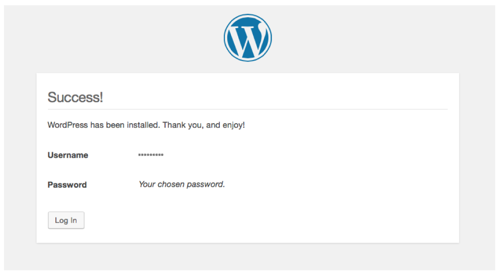 An image of WordPress Version Number